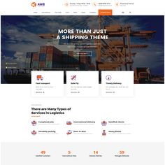 AWB - ModelTheme Page Layout, Wordpress Theme, Transportation, Wordpress Template