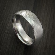 Damascus Steel Ring Wedding Band Custom Made Celtic Wedding Rings, Custom Wedding Rings, Wedding Ring Bands, Damascus Ring, Damascus Steel, Gents Ring, Vintage Engagement Rings, Bushcraft, Edc