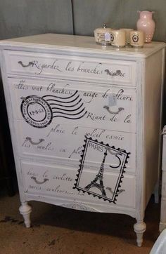 furniture with postage stamps - Google Search