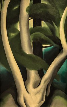 georgia okeefe painting in philadelphia museum of art | Georgia O'Keeffe - Birch and Pine Tree No. 1, 1925 at the Museum of ...