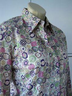 Rare-Liberty-Twenty-Four-clock-print-tana-lawn-shirt-by-Desimoni-UK14-16