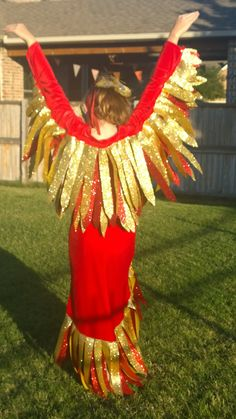 Phoenix More & Magical Phoenix Costume: Wings Tail and Mask // Eco by TreeAndVine ...