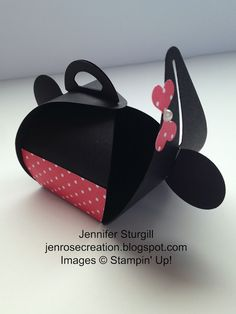 Jen Rose Creation: Mickey & Minnie Curvy Keepsake Boxes