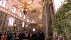 Guests arrive in the Royal Chapel in the Royal Palace, in Stockholm, for the wedding of Princess Madeleine on 06/08/13.