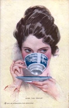 Дама с чашкой