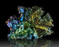 "5"" Shiny Metallic Blue-Magenta-Golden BISMUTH Hoppered Crystals England for sale - $225"