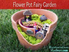 Flower Pot Fairy Garden by Restoration Redoux