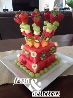 The cake we made entirely out of fresh fruit