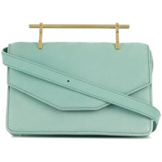 M2malletier Indre bag (€1.380) ❤ liked on Polyvore featuring bags, handbags, green, m2malletier, green suede bag, suede purse, green purse and green handbags