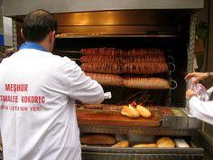 """Turk food: """"kokoreç"""" Very similar to Mexican """"Machitos"""". Interesting."""