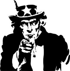 Uncle Sam Pointing Clip Art