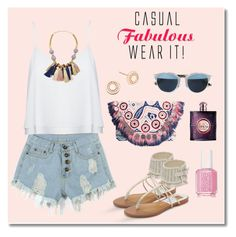 """""""Summer #20 - """"Casual & Fabulous"""""""" by sammers-i on Polyvore featuring Antik Batik, Alice + Olivia, Lizzie Fortunato, Astley Clarke, Essie, Yves Saint Laurent, Dolce Vita and Christian Dior"""