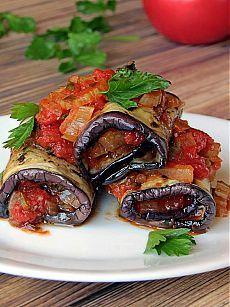 InVkus: Роллатини: баклажаны начиненные овощами