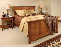 Mission style bedroom set.  This is solid and elegant.