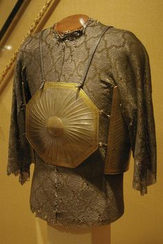 """Cuirass (Char Aina) Persia (Iran), 17th century.  Four-plate armours like this are known as """"Char Aina"""", or """"Four Mirrors"""", with the mirrors supposedly repell..."""