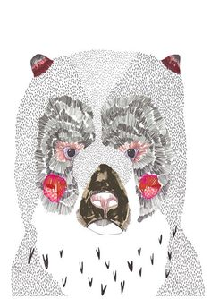Bear. #illustration #bear pernilleposselt