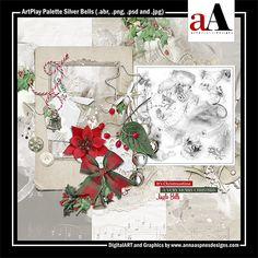 ArtPlay Palette Silver Bells Released 21 December 2018 #annaaspnes of #aA designs #annaaspnes #digitalart #digitalartist #digitalartistry #digitalcollage #collage #digitalphotography #photocollage #art #design #artjournaling #digital #digital #scrapbooking #digitalscrapbooking #scrapbook #modernart #memorykeeping #photoshop #photoshopelements