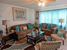 Cute Living Room in Teal