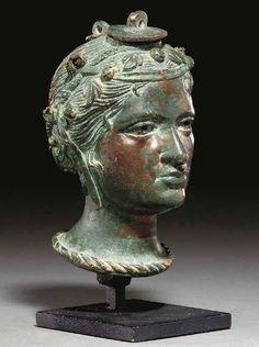 Etruscan anthropomorphic balsamarium vessel, ca. 3rd-2nd century BCE.