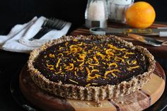 This Rawsome Vegan Life: chocolate caramel tart with orange & sea salt