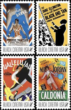 41 cents Black Cinema U.S. Postage Stamps, issued on July 16, 2008.