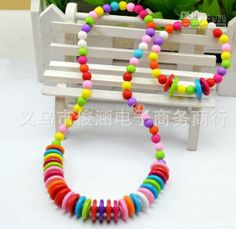 Wholesale Children Jewelry - Buy Hot Colorful Cute Resin Multicolor Childrenjewelry Sets Kids Strench Jewelry Necklace And Bracelet Hawaii Style High Quality WB07, $1.16 | DHgate