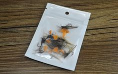 10PCS 10# Orange Grey Fly Fishing Parachute Dry Fly Trout Flies Fishing