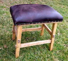 DIY  Leather Stool!! start up costs around 60-70 bucks but it buys enough material for 2 stools