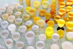 Valkoinen kuin valkuainen, keltainen kuin keltuainen / Whites, Yellows, 2007 (egg cups)