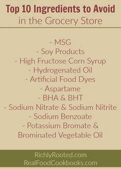 Avoid These 10 Ingredients (your body will thank you!) - Richly Rooted These ingredients are commonly used in processed foods. Click through to the post for a good quick-start guide on some of the worst ingredients to watch out for! Healthy Habits, Healthy Tips, Healthy Recipes, Healthy Treats, Eat Healthy, Healthy Choices, Toxic Foods, Tomato Nutrition, Salud Natural