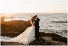 Romantic Sunset Elopement on the cliffs of Big Sur Big Sur Wedding, Wedding First Look, Trendy Wedding, Dream Wedding, Sunset Wedding, Wedding Poses, Wedding Photoshoot, Wedding Ideas, Wedding Shoot