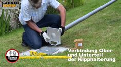 Montage Bodenhülse aus Stahl, kippbar