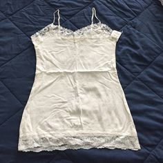 Charlotte Russe Lacy inner top Off white Charlotte Russe Tops Tank Tops