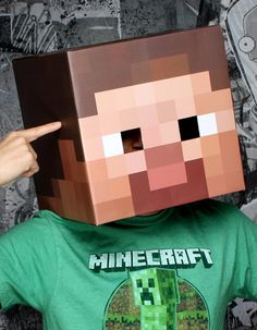 Minecraft Steve Head Mask Adult from BuyCostumes.com