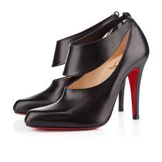 MISS ZORRA 100 mm, Cuir, BLACK, souliers pour femme.