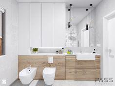 Aranżacje wnętrz - Łazienka: Projekt 18 - Mała średnia łazienka w bloku, styl skandynawski - PASS architekci. Przeglądaj, dodawaj i zapisuj najlepsze zdjęcia, pomysły i inspiracje designerskie. W bazie mamy już prawie milion fotografii!