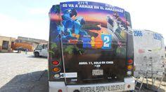 BUS DE DISEÑO DE PELÍCULA RÍO 2 MÉXICO CONTRATA