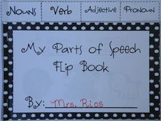 Free! This flip book reviews nouns, verbs, adjectives, and pronouns. Great as a personal mini word wall!