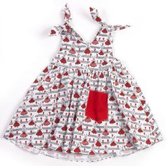 V 'Rabbits' Childrens Dress  £25.00