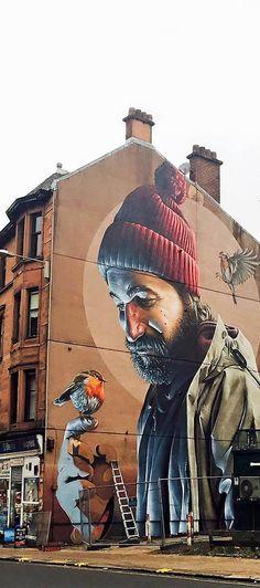 Street mural by Smug