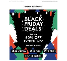 URBAN OUTFITTERS - Black Friday Mailer / Email. SALE