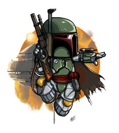 Boba Fett Chibi (Version 2) by DwarfCookies.deviantart.com on @DeviantArt