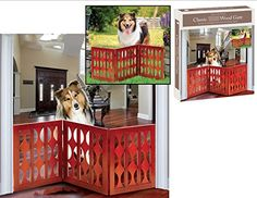 IndoorOutdoor Classic Style Solid Wood 3 Section Pet Gate >>> Details can be found by clicking on the image. This is an Amazon Affiliate links.