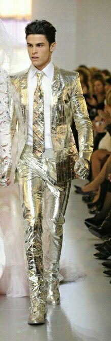 Metallic gold suit 2