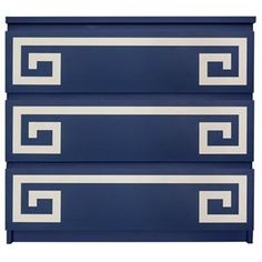 Picture of Greek Key Double O'verlays Kit for IKEA MALM (3 drawer)