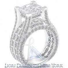7.26 Carat F-SI1 Radiant Cut Natural Diamond Engagement Ring 14k White Gold - Liori Exclusive Engagement Rings - Engagement - Lioridiamonds.com