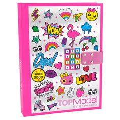 This TOP Model Diary with Locking Code in pink is ideal for keeping all your secrets safe. The TOP Model diary remains locked until you enter the correct code. It plays music for the first 20 seconds when opened.