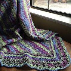 Corner to corner crochet border