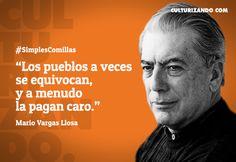 Lo mejor de Mario Vargas Llosa (+Frases) - culturizando.com | Alimenta tu Mente All Quotes, Funny Quotes, Francis Bacon, Wise Words, Writer, 1, Messages, Thoughts, Humor
