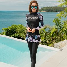 Rhyme Lady Hot Selling Cheap Price Rash Guard Online Wholesale Wetsuit Long Sleeve Sexy Sublimation Woman Swimwear  #swimwear #swimsuit #swim #bikini #beachwear